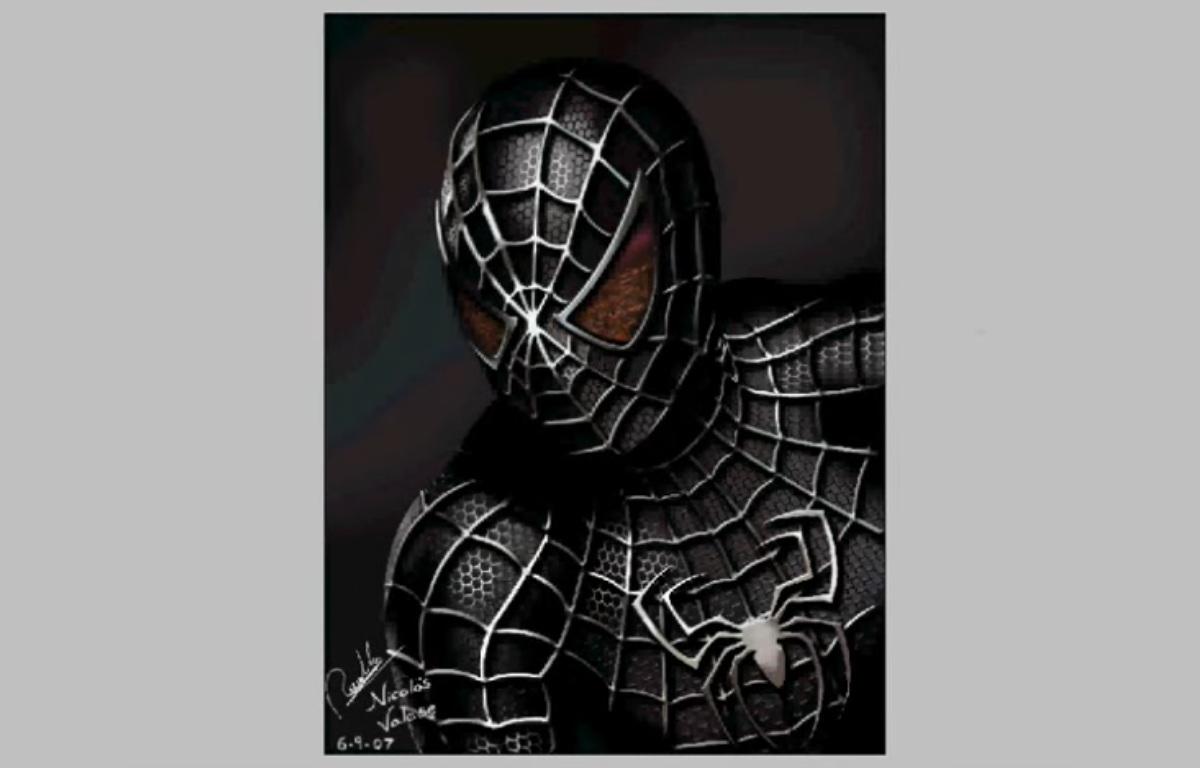 Speed Painting Homem Aranha Capa