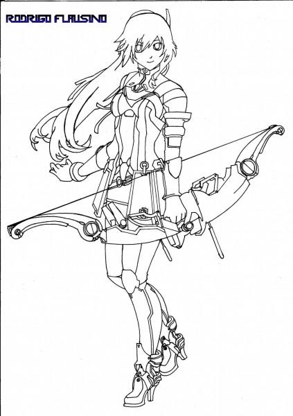 Desenho 170 Reimi Saionji - Traços com Canetinha