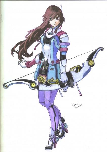Desenho Reimi Saionji Colorido - Star Ocean 4