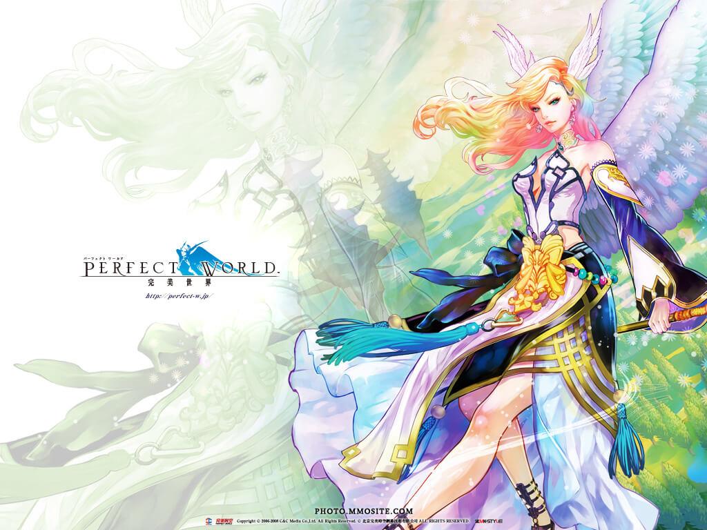 Wallpaper do game Perfect World, game online distribuído pela Level