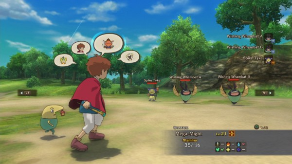 Ni No Kuni Wrath of The White Witch Combat System Screen
