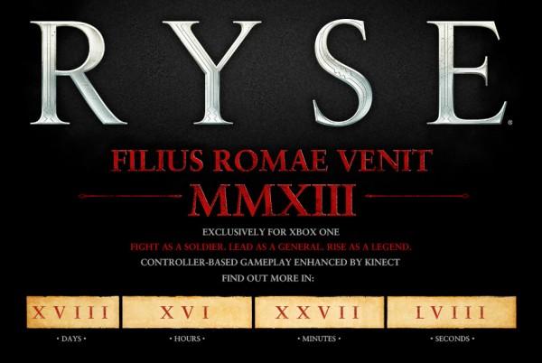 Ryse Xbox One Contagem Regressiva Site Oficial