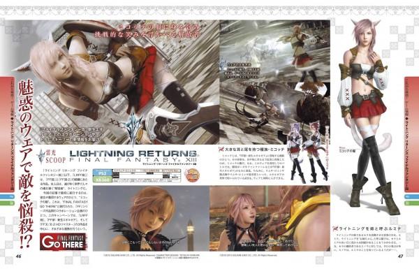 Lightning Returns Final Fantasy XIII Miqo'te Scan Famitsu