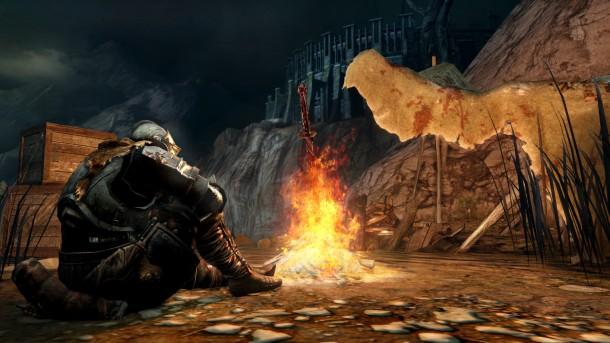 Dark Souls II - Bonfire - Huntsman's Corpse