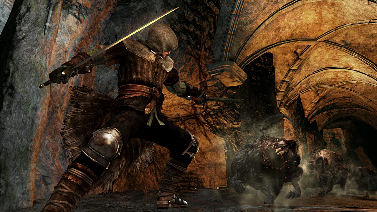 Dark Souls II - Wanderer Vs Rats