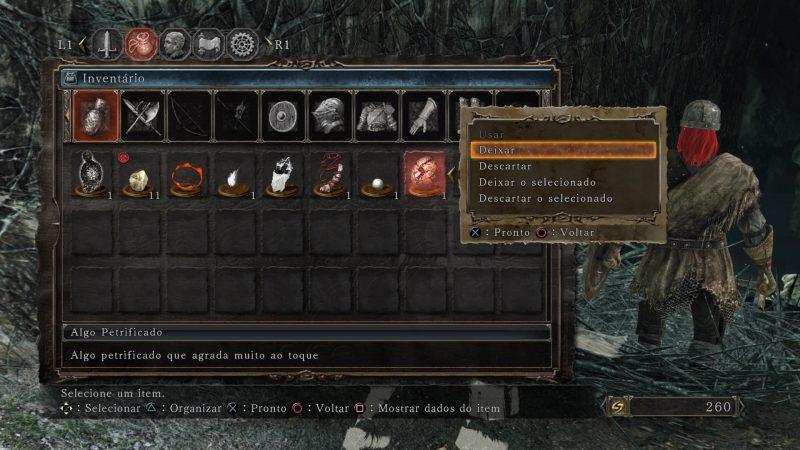 Dark Souls II - PS4 - Opções de Uso de Item