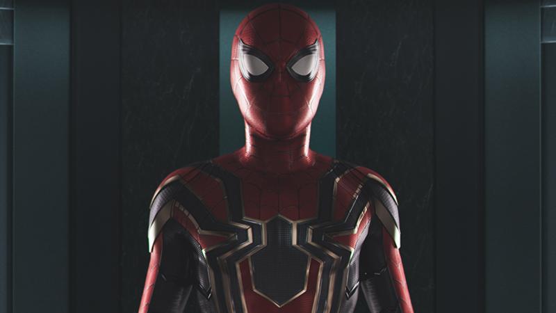 Homem Aranha - De Volta ao Lar - Roupa oficial do Aranha de Ferro - Topo