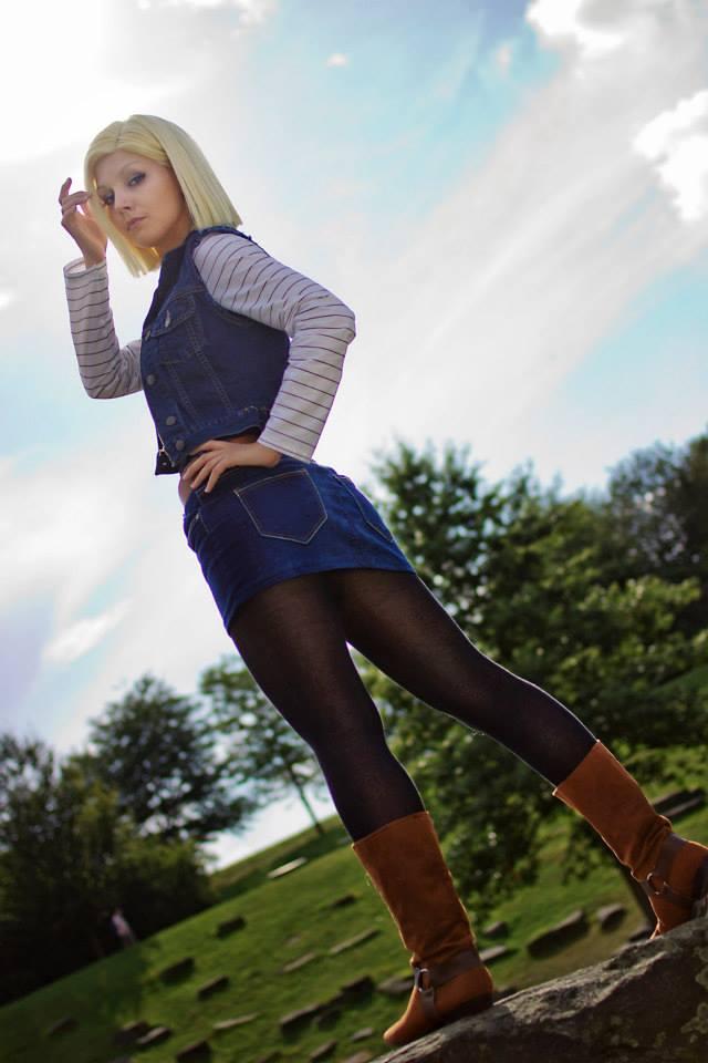 Linda Cosplay da Android 18 - Dragon Ball - Por Liechee 03