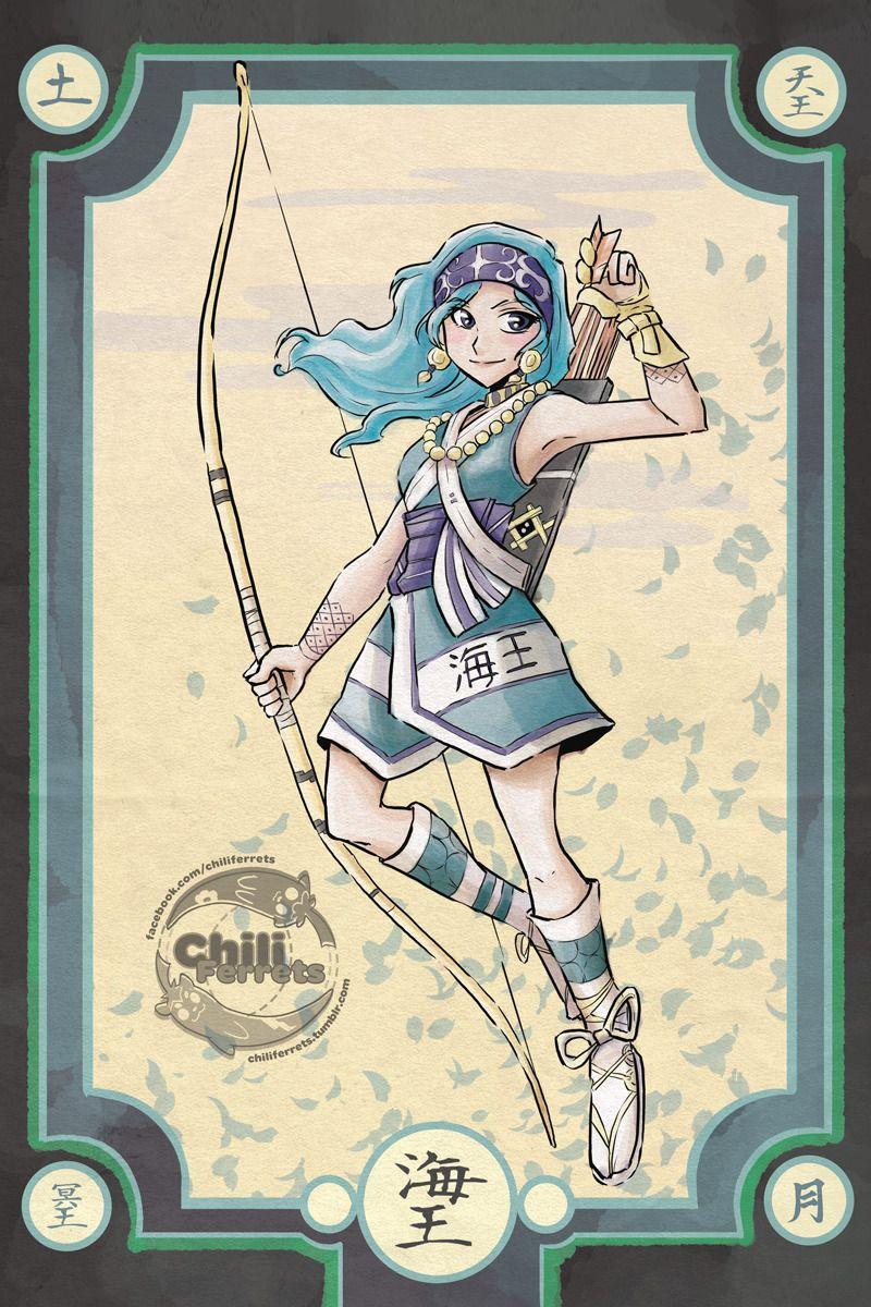 Sailor Moon - Ainu Huntress Neptune - Samurai Style