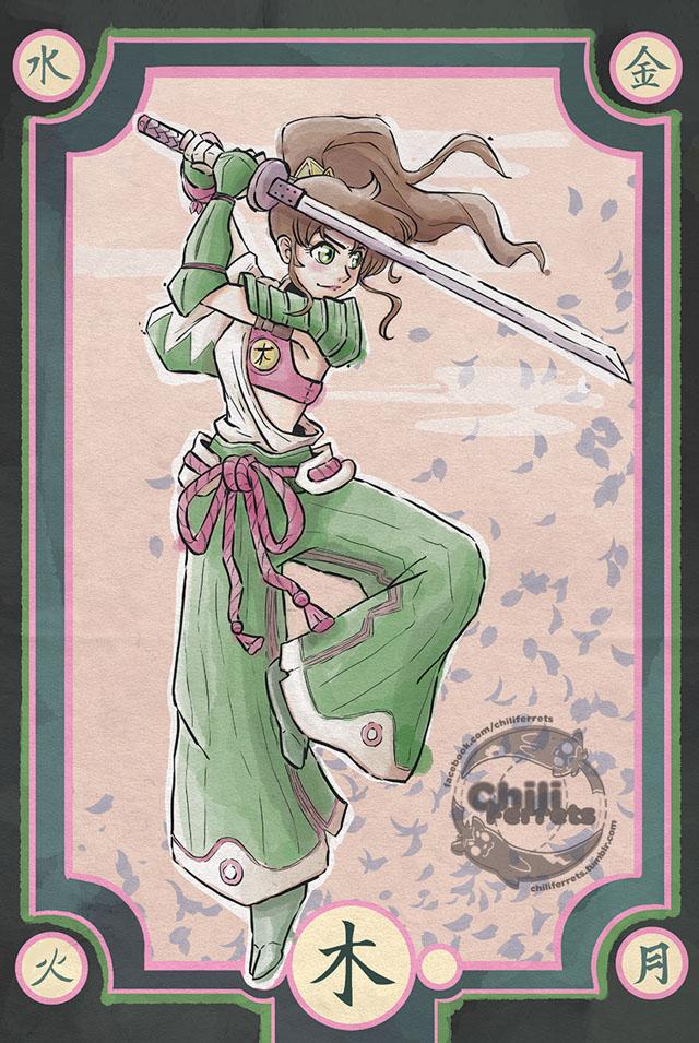 Sailor Moon - Ronin Jupiter - Samurai Style Art