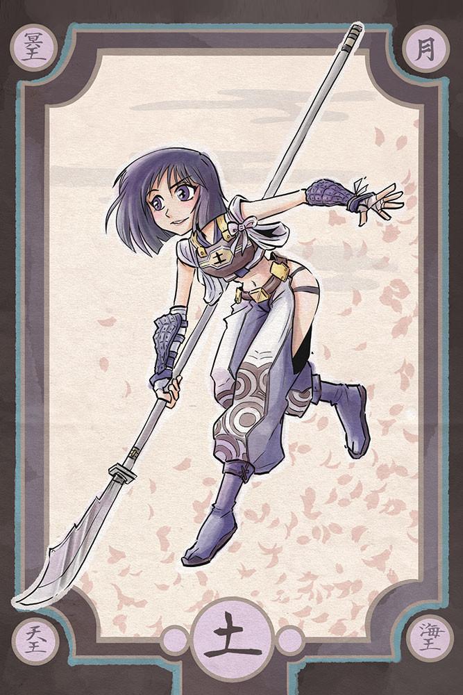 Sailor Moon - Spearmaster Saturn - Samurai Style