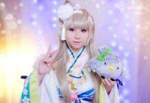 Cosplay da Kotori Minami com kimono - Love Live - Animes