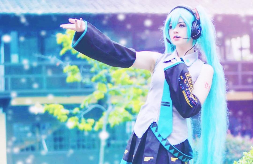 Hatsune Miku Cosplay Clássico - Vocaloid Topo