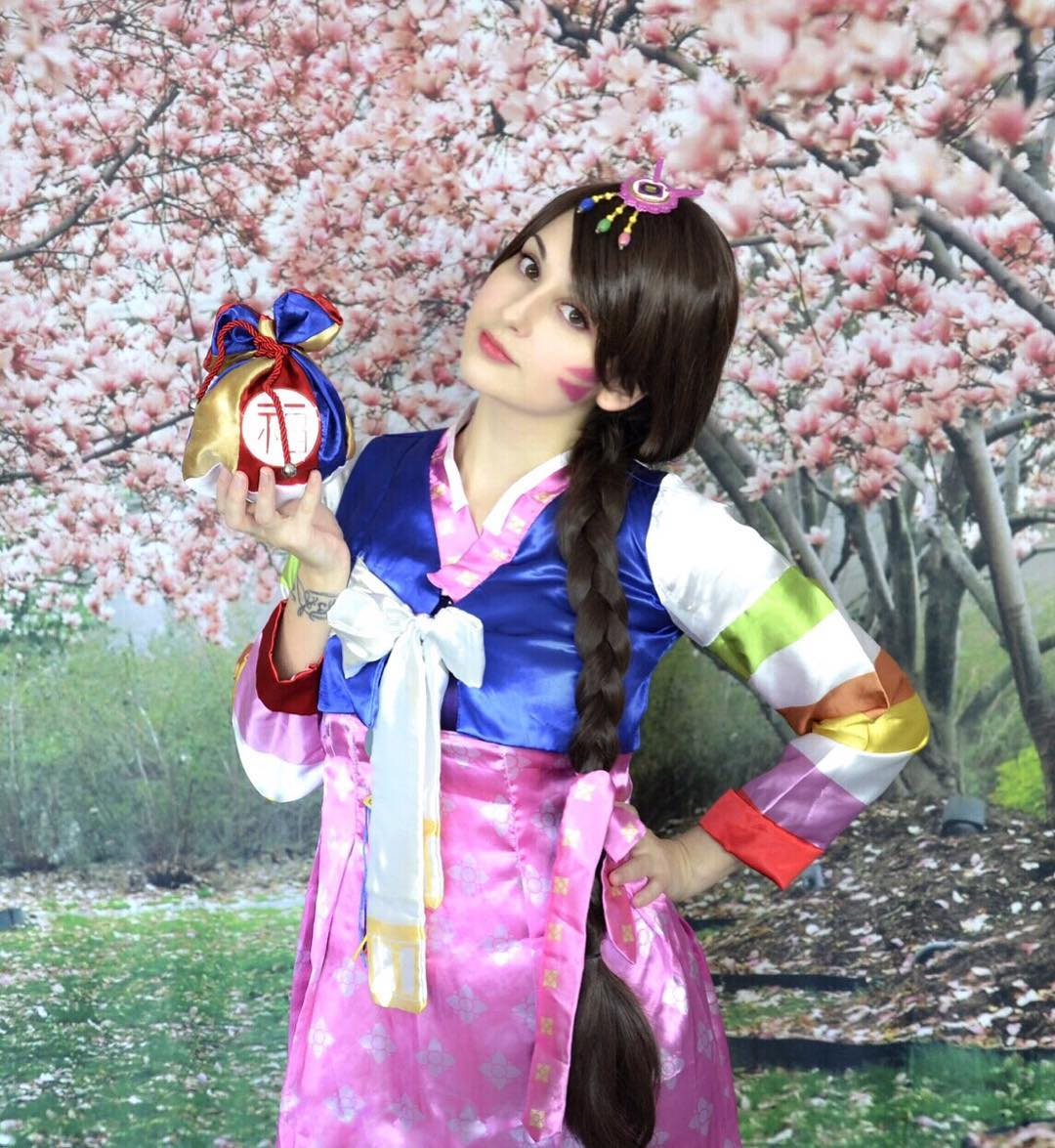 Palanquin DVA Cosplay - Overwatch - With Blue Dress - Foto