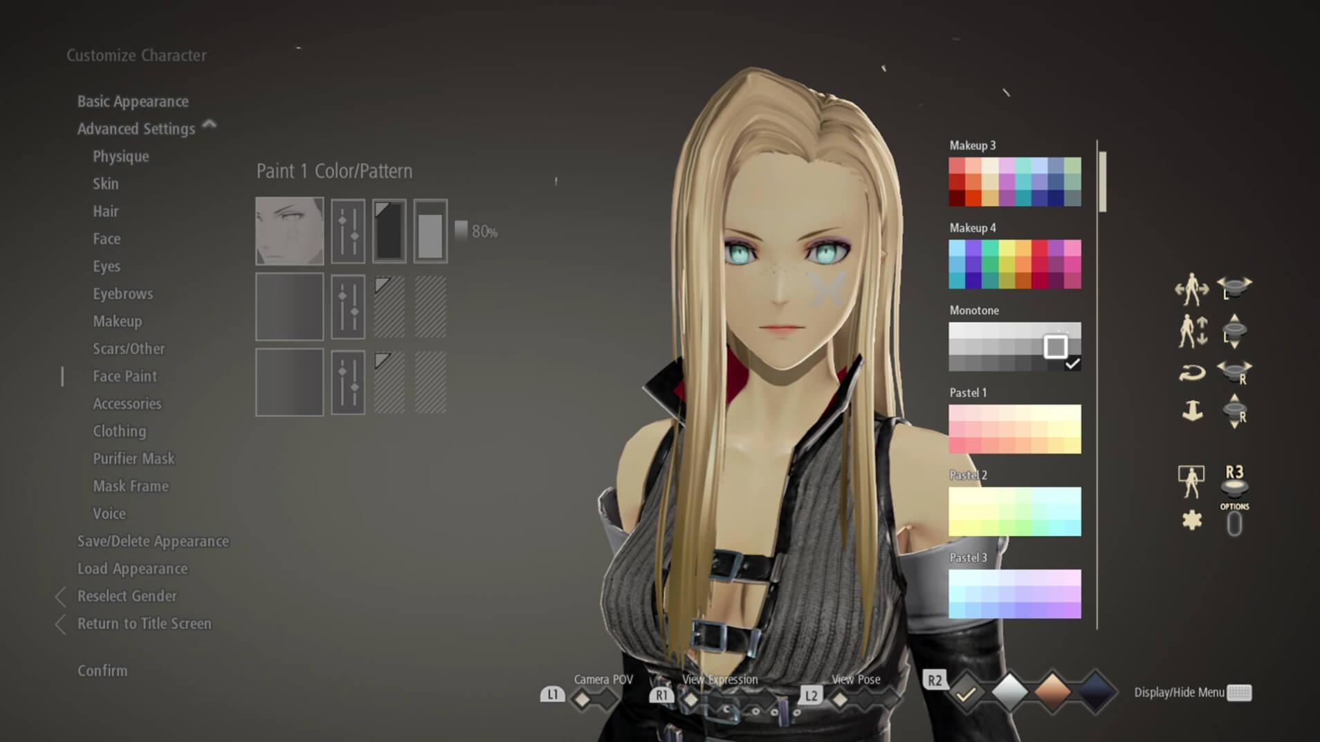 Code Vein - Criador de Personagens - Screenshot