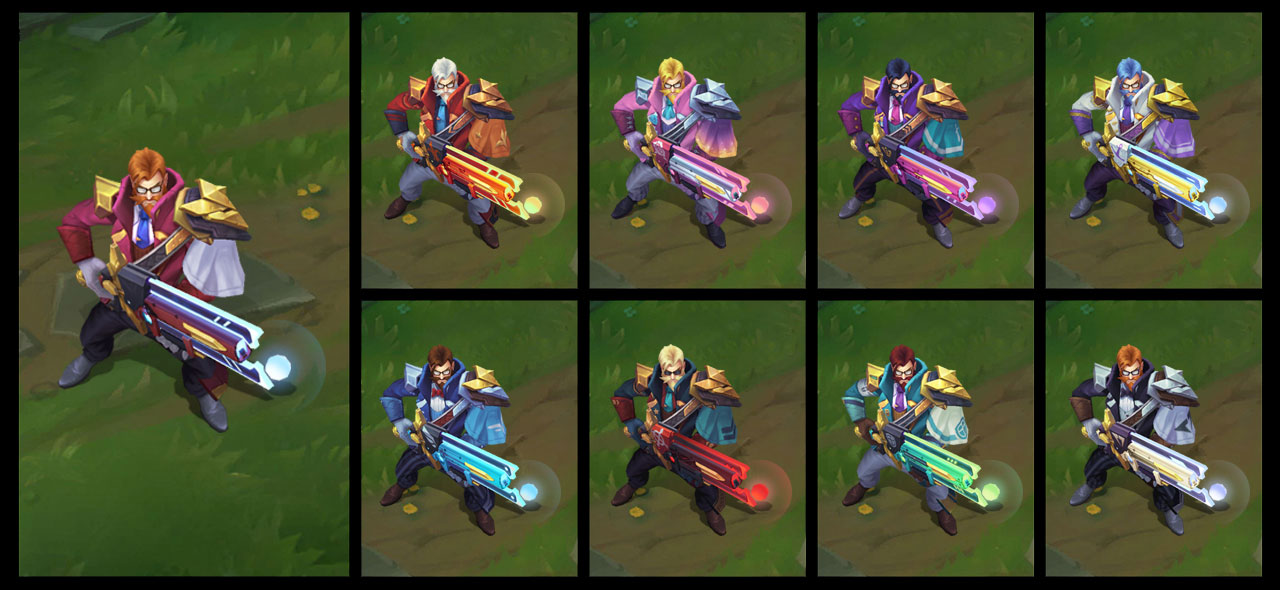 League of Legends - Graves Professor - Skin Academia de Batalha 2019 - Chromas