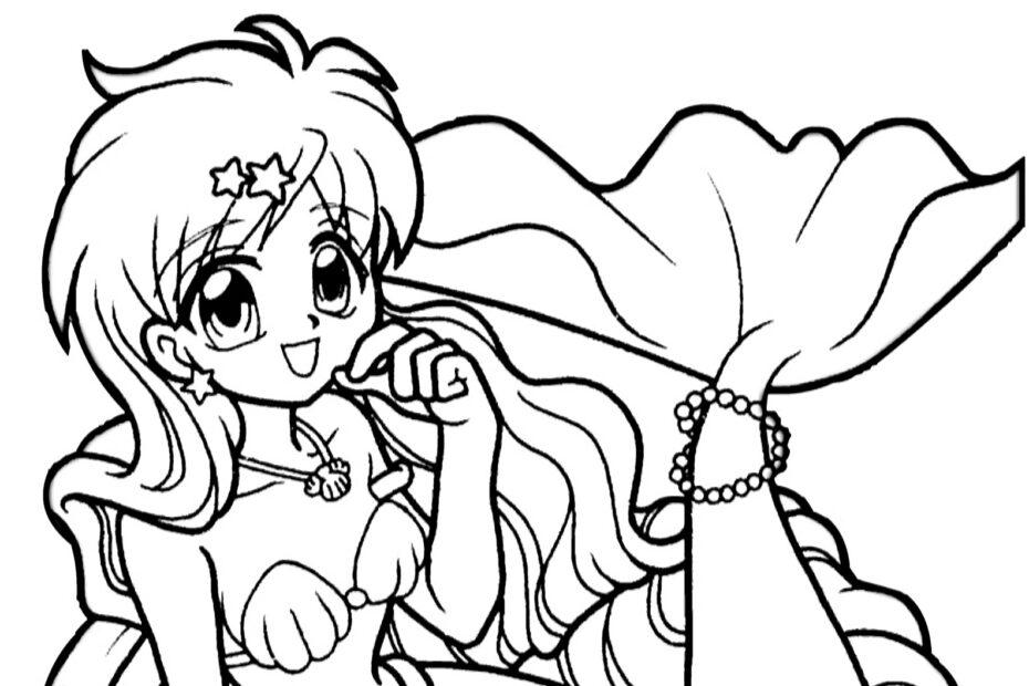 Mermaid Melody Sereia para colorir, pintar e imprimir
