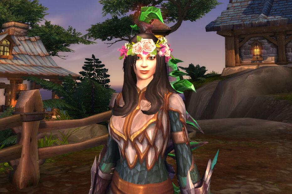 World of Warcraft - Coroa de Flores na personagem principal - Transmog permanente