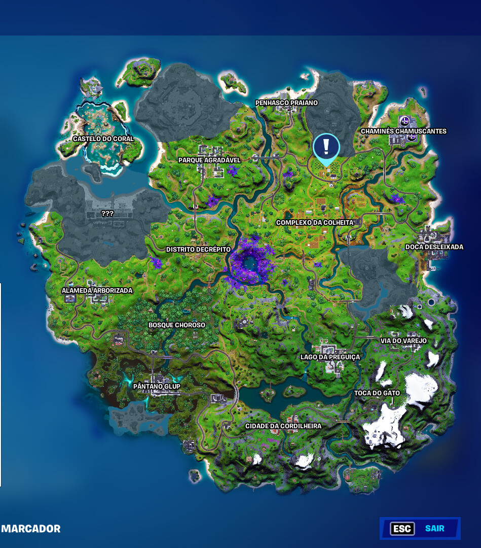 Fortnite Mapa do Pomar - Capítulo 2 Temporada 7