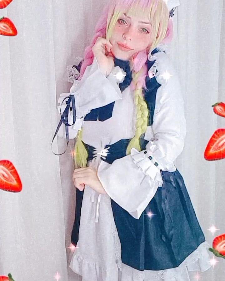 Kimetsu no Yaiba - Cosplay da Mitsuri Kanroji versão Maid - 03