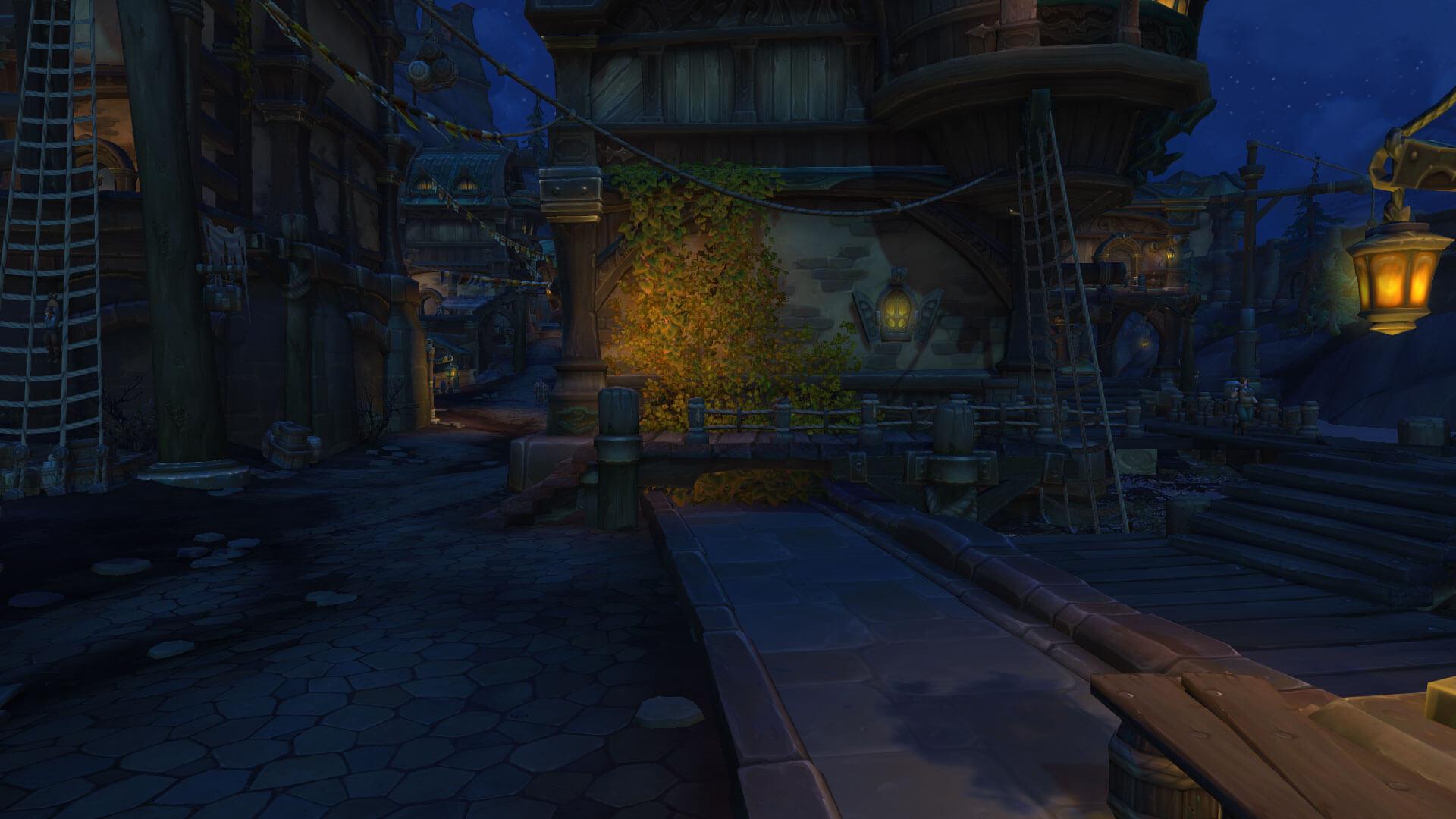WoW Boralus Screenshot de rua