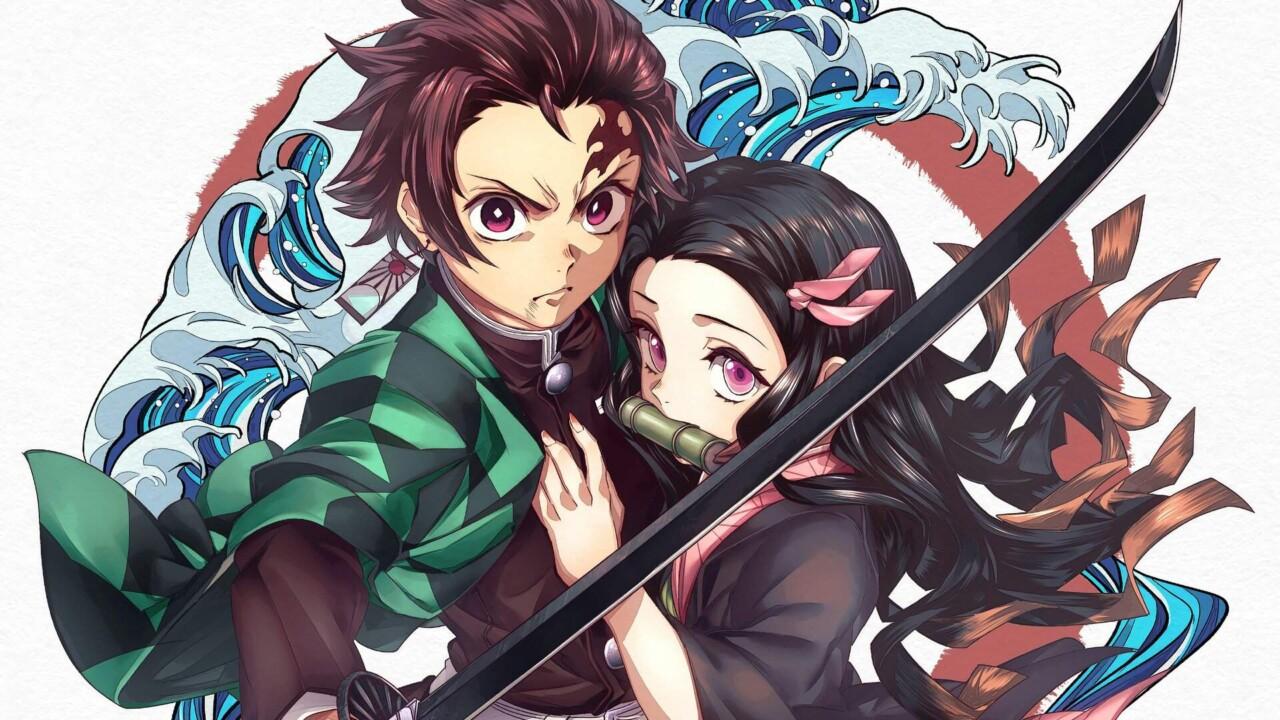 Tanjirou e Nezuko - Kimetsu no Yaiba Wallpaper Papel de Parede